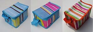 Small Insulated Cooler Picnic Thermal Portable Lunch Carry Storage Bag 6 Can