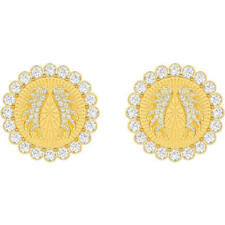 Swarovski Crystal Lucky Goddess Clip Earrings, White, Gold Plating 5464120