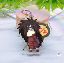 Hot Japan Anime Naruto UchihaMadara Acrylic Key Ring Pendant Keychain Gift