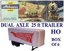SepLot727 Ho 25 ft International Dual Axle Trailers Athearn Bluebox-No Ca Sales