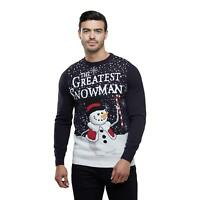 Mens Christmas Jumper The Greatest Snowman Xmas Novelty Crew Neck Sweater