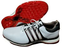 Adidas Tour 360 XT SL F34992 Golf Spikeless Black Red scarlet White 15 Boost