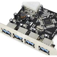 4 Port USB3.0 PCI-E PCI Express Card with Power Connector