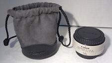 Canon Extender EF 1.4x II Teleconverter with Caps & Original Drawstring Bag!