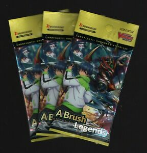 CardFight Vanguard OverDress A Brush With The Legends Booster Pack Lot (3 Packs)