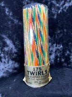vtg CELO-GLO Celluloid Stirrers Cocktail Swizzle Sticks Stirrers Twirls 150pcs
