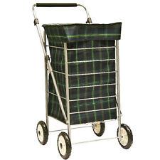 Bolsa de carro de la compra Trolley 4 Ruedas Mango Ajustable Ligero Nuevo