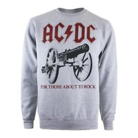 ACDC - About To Rock - Official - Mens - Jumper - Grey - S,M,XL