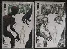 2014 ECCC TWO WALKING DEAD EXCLUSIVE VARIANT BOTH COLOR & B/W - NM/MINT