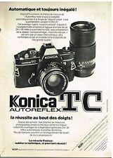 Publicité Advertising 1977 Appareil Photo Konica TC Autoreflex