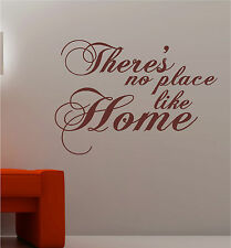 NO PLACE LIKE HOME wall art vinyl kitchen lounge QUOTE