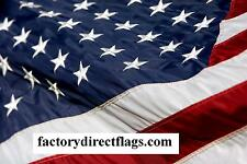 Embroidered Us Flag 3' X 5' American Made Flag 2 Ply Spun Poly