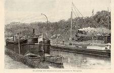 59 DOUAI PASSAGE DES BATEAUX AU PONT TOURNANT DE DORIGNIES IMAGE 1895