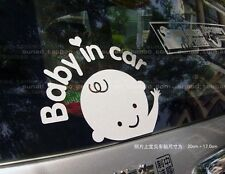 Reflective Baby In Car Waving Decal Sticker Skoda Octavia Rapid Fabia Superb