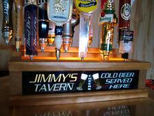 18 Tap Handle Display Personalized tavern lighted bar sign Pilsner Beer Glass