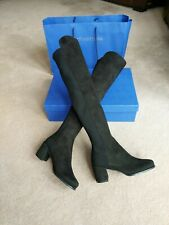 Brand New Stuart Weitzman 50/50 Block Heel Over The Knee Boots 1.5 UK 34.5 EU