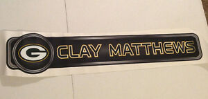 """Clay Matthews FATHEAD Player Name Banner Graphic 29.5"""" x 6"""" NFL Packers"""