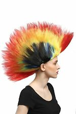 Wig Colorful IRO 80er WAVE PUNK GLAM Mohawk Red Yellow Green Blue Black dh1159