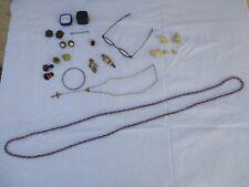 lot de bijoux anciens émaillé argent,pierre,métal doré broche bague