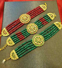 Indian Jewelry 1PC Bollywood Hyderabad Style New Gold Plated Bracelet Set Ak 686