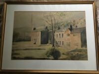 JOHN THOMPSON (1924-2012) ORIGINAL LARGE PAINTING - MANCHESTER NORTHERN ARTIST