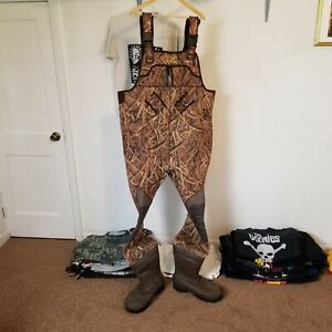 Red Head Bone Dry Waders Mens sz 14 Camouflage Boots Chest High Camo Mossy Oak