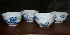 LENOX~BUTTERFLY MEADOW BLUE ~4 ALL PURPOSE BOWLS ~16 OZS FIRST QUALITY ~NEW!!!