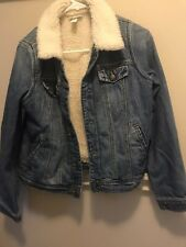 Girls Cat and Jack Sherpa Jean Jacket 14/16