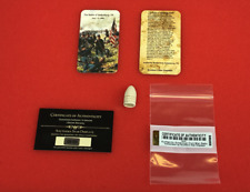 Dropped Civil War Relic Bullet from Gettysburg, Pa with Information Card & Coa