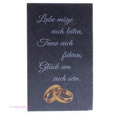 Bild Tafel aus Schiefer mit goldenen Ringen Eheringen Hochzeit Trauung Ehe