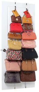 JOKARI 06436 – Over Door Handbag Rack with 16 Adjustable Locking Metal Hooks