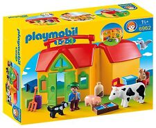Playmobil 6962 1.2.3 Take Along Farm with Shape Sorter with 5 Farm Animals Toy