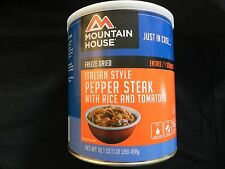 3 Cans Italian Style Peper Steak - Mountain House Freeze Dried Emergency Food