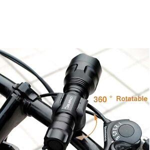 MTB Fahrrad Bike 360°Drehbar Taschenlampe Halterung Lampe Scheinwerfer Ständer