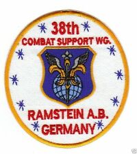 USAF BASE PATCH, 38TH COMBAT SUPPORT WING, RAMSTEIN AIR BASE GERMANY           Y