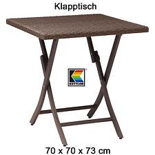 KETTLER Tisch 70x70 cm klappbar in havanna braun Bistro Balkontisch Gartentisch