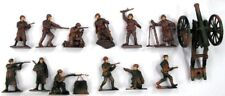 PLAYSETS  1/32 WWII Russian Infantry Figure  12 w/Weapons & Cannon  PYS41