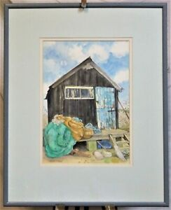 Walberswick watercolour painting and book Juliette Palmer Cockles and Shrimps