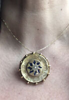 Majestic 18CT Pendant Brooch Locket Seed Pearls Enamel Star of Destiny C.1830