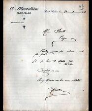 """SAINT-CALAIS (72) FAIENCES PORCELAINES """"C. MARTELLIERE"""" en 1924"""