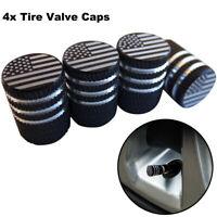 4x American Flag Type Wheel Tire Valve Cap Stem Cover For Bike Car Accessoires
