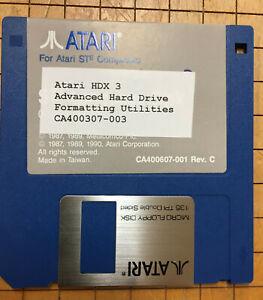 """Atari ST HDX 3.0 Hard Drive Formating Software 3.5"""" disk"""