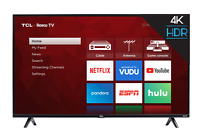 TCL 55 inch 4K Ultra HD HDR Roku Smart TV with 3 x HDMI 2019 Model - 55S425