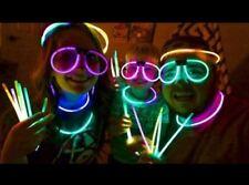 24 GLOWSTICKS GLASSES &  100 glow sticks PARTY NEON RAVE FAVORS bag