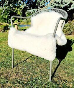 XXL Medical Grade Eco British White  Sheepskin Rug - 105cm by 70cm A++ (4224)
