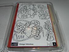 Stampin Up Vintage Valentines Stamp Set of 5 Be my Honey U R My Q-T Pie Friends