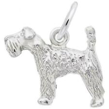 Kerry Blue Terrier Dog Charm: Sterling Silver: Animals & Pets: Style 1095 (Rembr