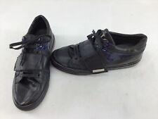 John Galliano Paris Men's Lace Up Black/Blue Sneakers Size Euro 43.5  H1466/