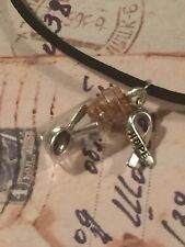 Spoonie Rare Chronic illness Cause Necklace 8 Charms, 3 Colors You Pick