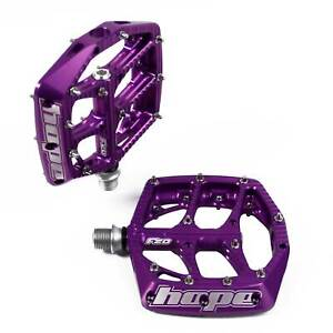 Hope Technology F20 MTB Bike/Cycle/Cycling/Biking Flat Pedals - Purple